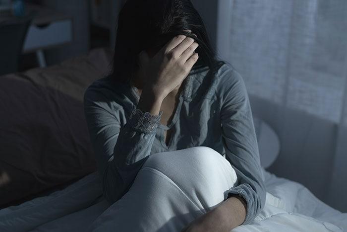 Donna soffre di insonnia