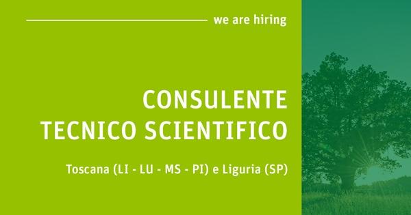 Offerta lavoro per Consulente Tecnico Scientifico in province toscane e liguri