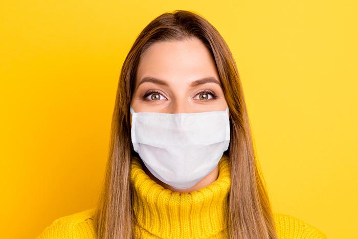 dermatite viso mascherina